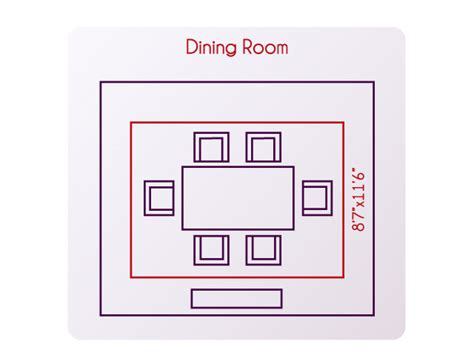 dining room dimensions what size rug should you use for your living room or