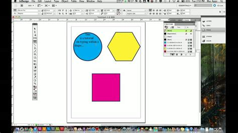 indesign frame tool adobe indesign cs5 tutorial how to place text in shapes