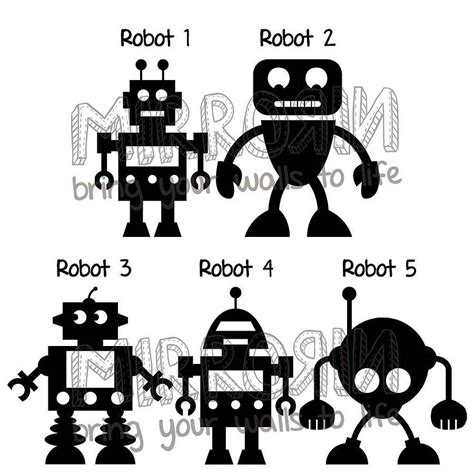 robot wall sticker robots vinyl wall stickers by mirrorin