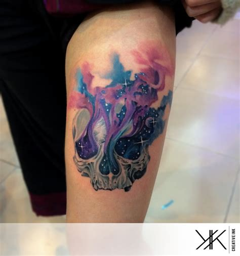 watercolor tattoo skull watercolor tattoos askideas