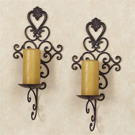 Wrought Iron Candle Wall Sconces Black Wrought Iron Wall Candle Sconces Wall Sconces Oregonuforeview