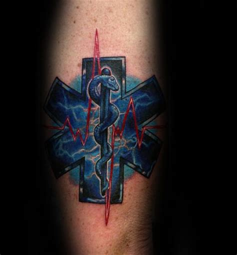 star of life tattoos paramedic tattoos pictures to pin on tattooskid