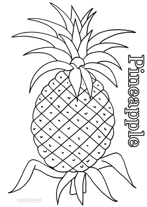 How To Draw Pineapple For Kids Www Imgkid Com The Pineapple Coloring Page
