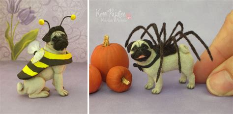 pug bee costume miniature pug sculptures in costume by pajutee on deviantart