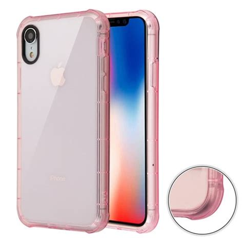 sale air sacs transparent anti shock tpu for iphone xr pink hd accessory