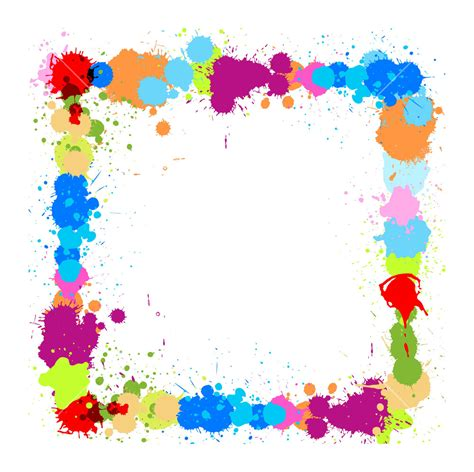 color frame colored drops frame royalty free stock image storyblocks