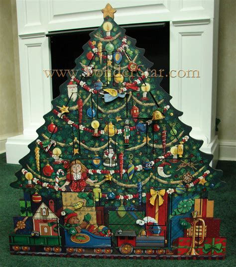 heirloom wooden advent calendar christmas tree
