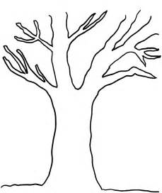 Tree trunk outline colouring pages