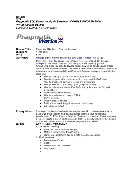 course outline template ssas v2 course outline template