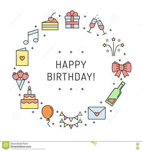 happy birthday modern design happy birthday multicolored greeting card with circle
