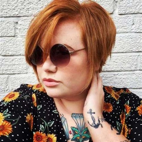 short red hair plus size 25 pretty short haircuts for chubby round face short