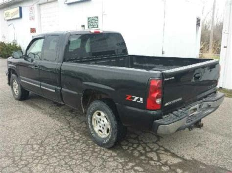 how to work on cars 2004 chevrolet silverado 1500 electronic valve timing sell used 2004 chevrolet silverado 1500 4x4 ext cab z71 run drive salvage needs body work in
