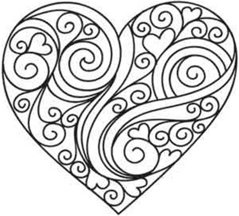 heart design coloring page coloriage st valentin coeur