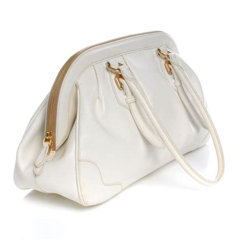 Prada Juta Laminata And Cinghiale Frame Bag by Prada Cinghiale Leather Frame Bag Bianco 47646
