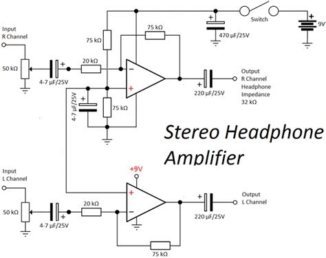transistor headphone lifier schematic op headphone lifier circuit