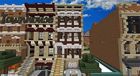 minecraft town houses townhouse traditional minecraft building inc