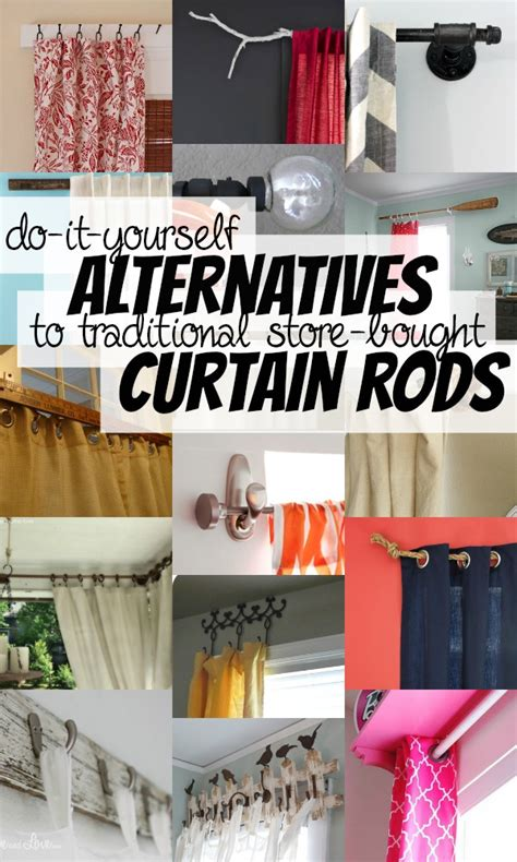 alternative curtain rods remodelaholic 25 creative diy curtain rod tutorials