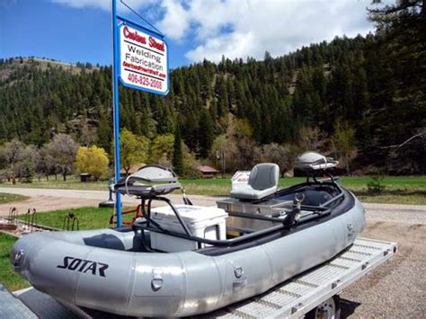 drift boat or raft for fly fishing custom aluminum fishing raft frames by barney conrad at