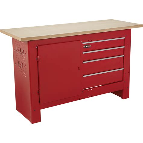 waterloo work bench waterloo 60in 4 drawer workbench with wooden top 60in w