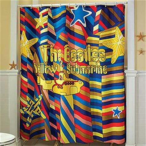 yellow submarine shower curtain com beatles yellow submarine shower curtain