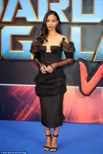 Premier Overall Set Dress By Maritza zoe saldana wows in plunging dress at galaxy premiere wstale