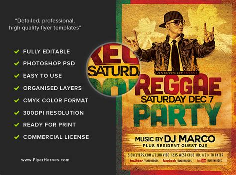template flyer reggae reggae party flyer template flyerheroes