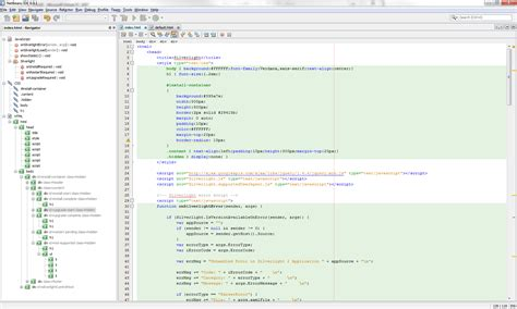 format html code in netbeans good javascript ide with jquery support