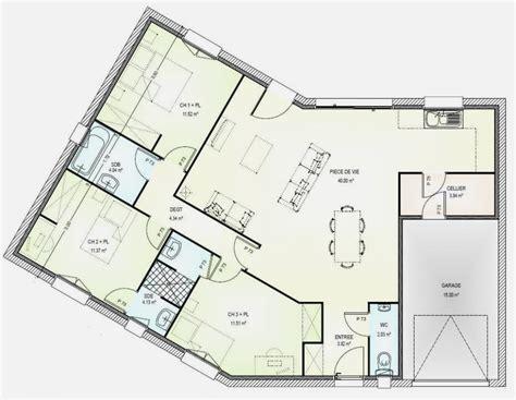 Plan De Maison 4 Chambres Plain Pied Gratuit by Plan De Maison En V Gratuit Basketballhoopreviews Us
