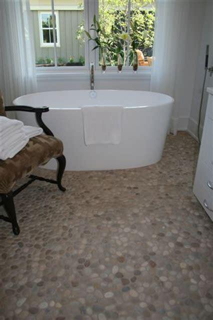 Pebble Tile Bathroom Floor by Island Pebble Bathroom Floor Modern Tile Other