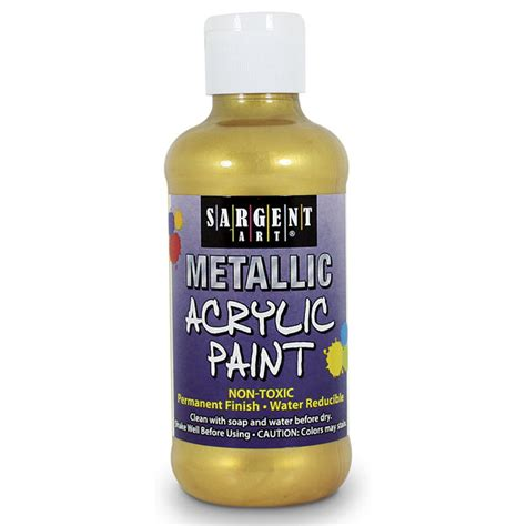 acrylic painting gold sargent 174 metallic acrylic paint gold 8 oz