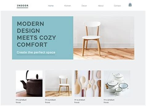 home interiors website home decor website template wix