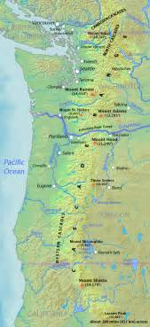 Cascades world map cascade range wikipedia