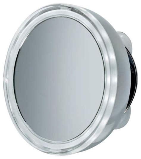 smile illuminated magnifying mirror 3x with suction cup