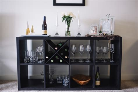 Expedit Bookcase Ikea Diy Wine Rack An X Shelf Ikea Hack