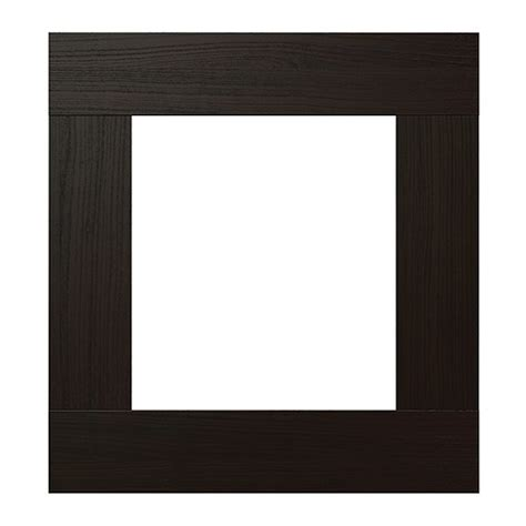 best 197 vara glass door clear glass black brown ikea