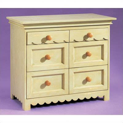 alligator scallop six drawer dresser all modern baby