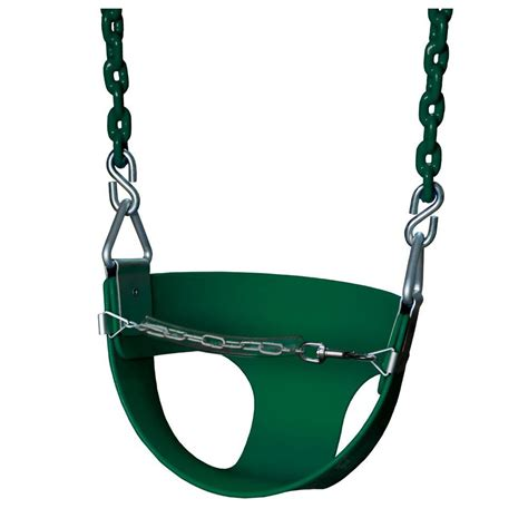 gorilla bucket swing gorilla playsets half bucket swing with chain in green