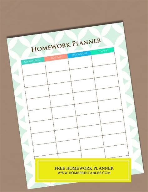 printable planners for homework best 25 homework planner printable ideas on pinterest