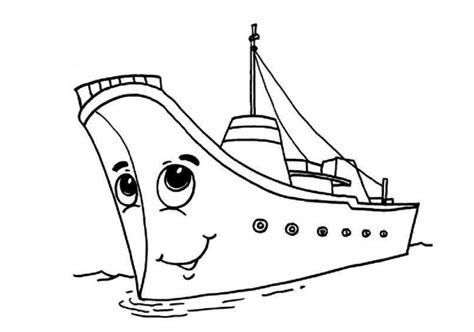 boat pictures for kindergarten happy ship coloring pages for kindergarten and preschool