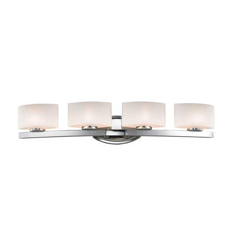 Halogen Bathroom Lighting Filament Design Negron 4 Light Chrome Halogen Bath Vanity Light Cli Xy5242625 The Home Depot