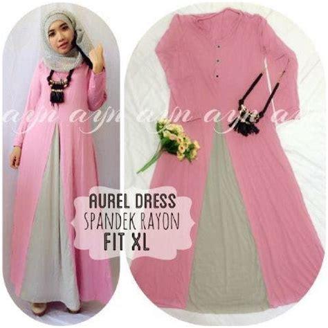 Dress Aurel Murah busana muslimah dan jilbab kamilah butik januari 2015