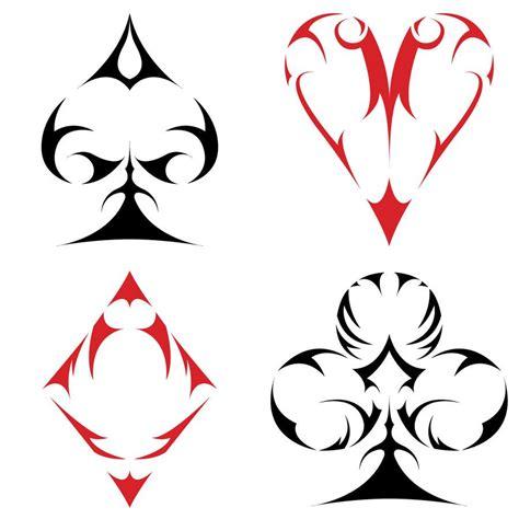 tribal like tattoos tribal card suits by aroreforlife d4zyr5x jpg 900 215 900