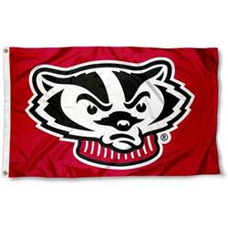 bucky badger mascot head 3x5 foot flag