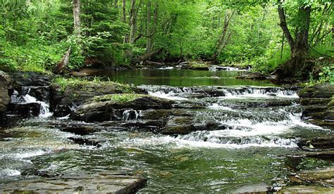 black falls in with gardener black slate waterfall baraga county michigan waterfalls