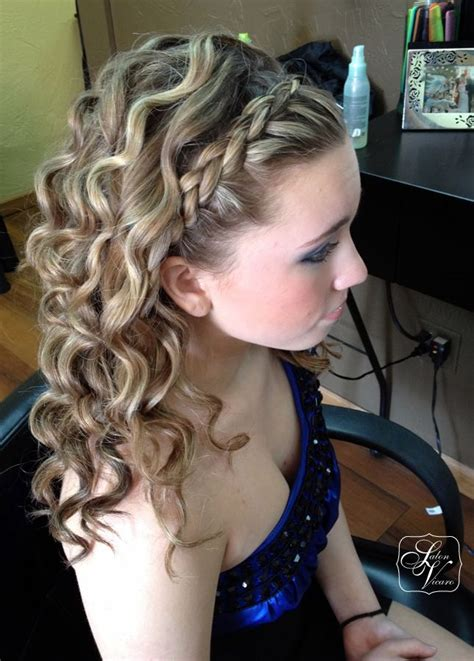 homecoming hairstyles down with braids prom hairstyles with braids and curls half up half down