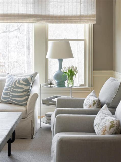 beutiful living rooms pale blue accents add soft pretty touches of color to this neutral living room simple clean