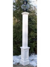 Azek 6x6x72 quot lantern post sleeve with 24 quot genuine recessed panel base