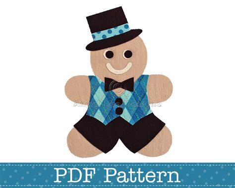 printable gingerbread man clothes gingerbread man applique template make your by