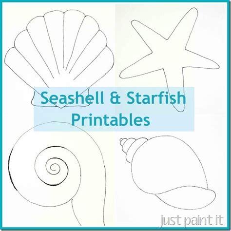 seashell template free printable alic e me