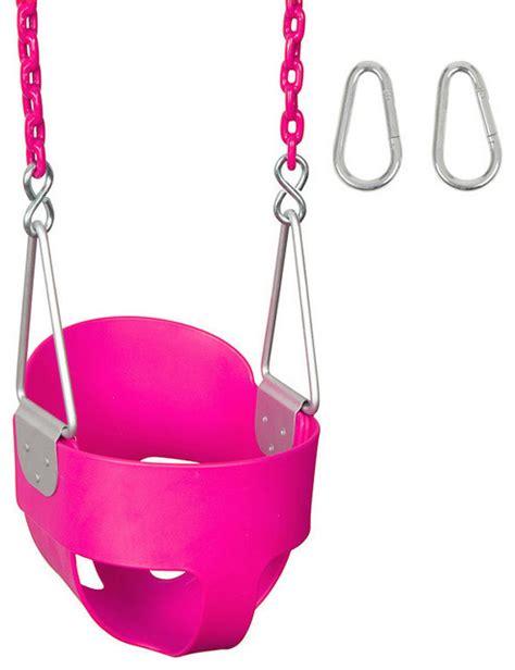 pink swing seat swing set stuff inc high back full bucket swing seat